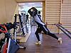 [写真]新田佳浩のバーベルトレーニング