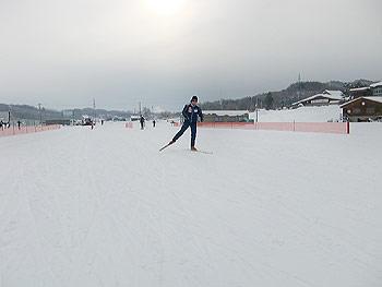 [写真]スピード練習中の太田渉子選手