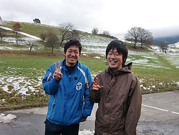 [写真]関真二君と嶋田将樹君