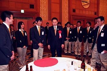 [写真]新田佳浩、鳩山首相