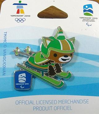 [写真]バンクーバーパラリンピック公式ピンバッジ シットスキー