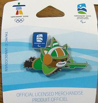 [写真]バンクーバーパラリンピック公式ピンバッジ バイアスロン