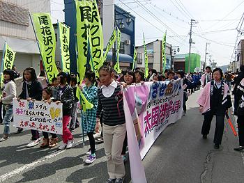 [写真]太田選手渉子の凱旋パレードの様子
