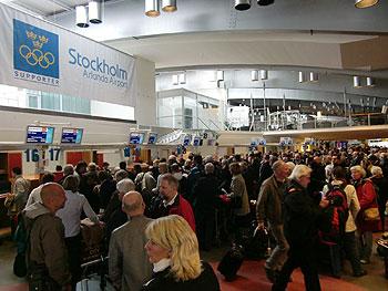 [写真]ストックホルム空港内の様子