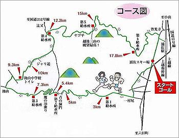 [画像]浦佐温泉耐久山岳マラソン大会のコース図