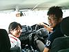 [写真]富士山に向かう