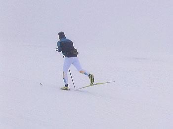 [写真]クラシカルトレーニング中の新田佳浩選手