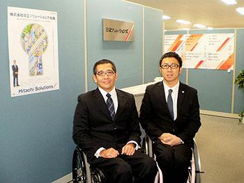 [写真]長田弘幸(左)と久保恒造(右)