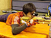 [写真]新田佳浩の射撃トレーニングの様子