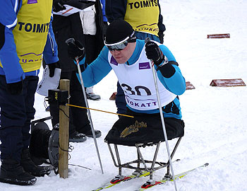[写真]滑走中のイレク選手