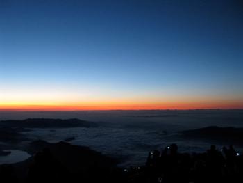 [写真]富士山頂からの写真