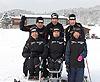 [写真]正月合宿中の日立ソリューションズスキー部一同