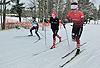[写真]新田、太田はクラシカル、出来島はスケーティングでインターバルトレーニング
