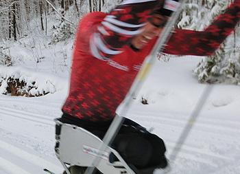 [写真]スピード練習する久保選手