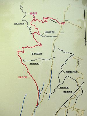 [写真]林道滝沢線の地図