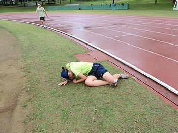 [写真]走りきったあとの阿部友里香選手