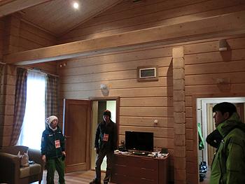 [写真]石田選手が泊まっている部屋
