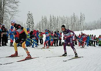 [写真]スキーアスロン後半フリーの石田正子選手