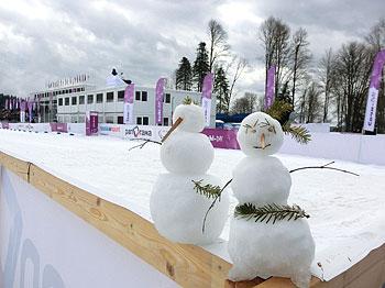 [写真]ロシアの雪だるま
