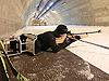 [写真]心拍を上げて射撃トレーニング