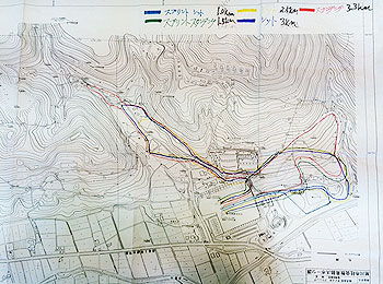 [写真]予定されているコースのマップ