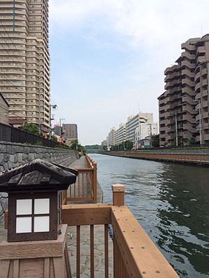 [写真]小名木川です
