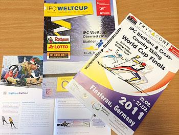 [写真]IPCワールドカップのプログラム