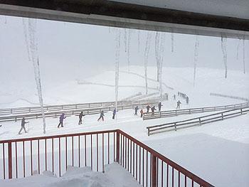 [写真]吹雪