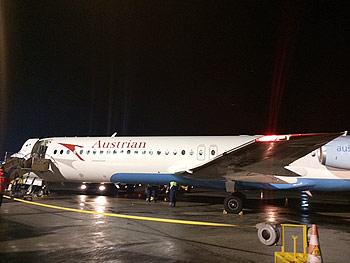 [写真]ザルツブルグに向かう飛行機