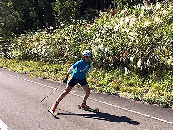 [写真]阿部友里香のスピードトレーニング
