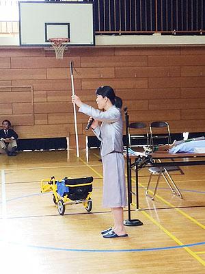 [写真]パラリンピック金メダリストの井口深雪さん