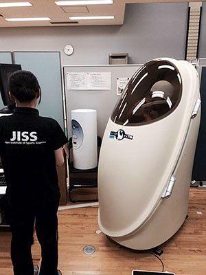 [写真]体脂肪測定を測るカプセル