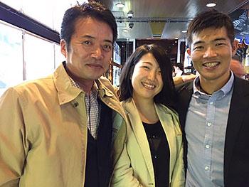 [写真]荒井秀樹、新田佳浩選手、太田渉子さん