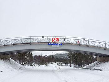 [写真]サーリセルカのシンボルブリッジ