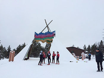 [写真]クロスカントリースキーコース スタート付近