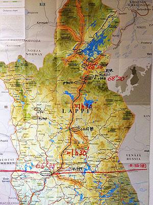 [写真]ラップランドの地図