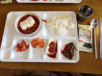 [写真]トレーにとった料理