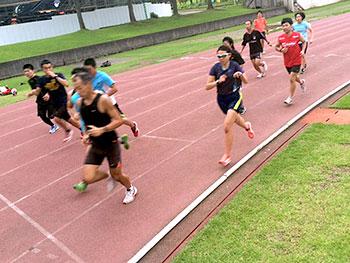 [写真]インターバルトレーニング