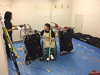 [写真]出来島選手と新田のんの選手