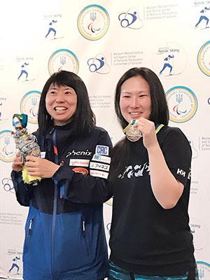 [写真]出来島選手と大和田コーチ