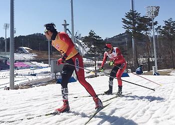 [写真]高村選手と藤田ガイド