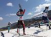 [写真]スプリントレース・クラシカルでの新田選手