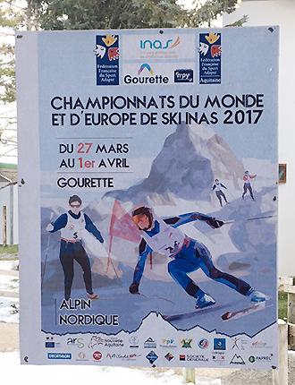 [写真]INAS世界選手権大会のポスター