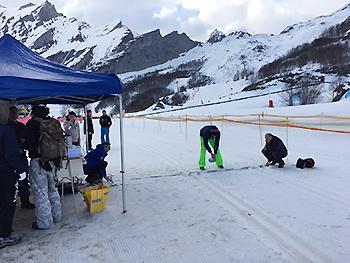 [写真]スキー場のゲレンデがコースでした
