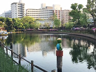 [写真]仙台堀にはカッパのモニュメントが