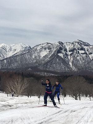 [写真]笹ヶ峰牧場のクロスカントリースキーコース