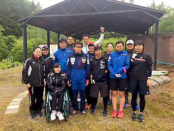 [写真]バイアスロン網走合宿チーム集合写真