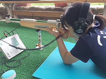 [写真]バイアスロン練習