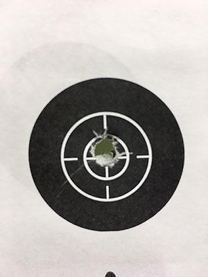 [写真]星澤選手の弾痕