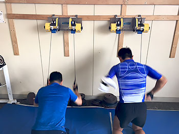 [写真]エルコリーナでトレーニングする選手たち
